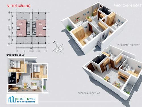 thiết kế căn hộ Osimi Tower