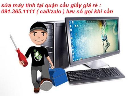 sửa máy tính tại cầu giấy giá rẻ