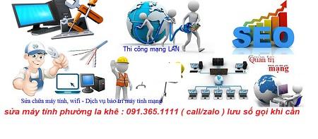 sửa máy tính tại phường la khê giá rẻ